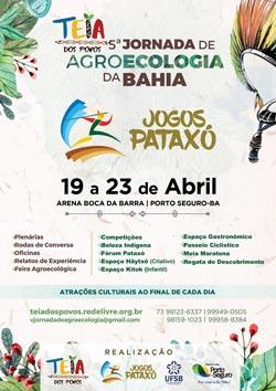 panfleto 9ª edição dos Jogos Indígenas Pataxó