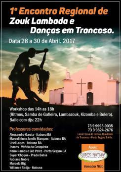 panfleto 1º Encontro Regional de Lambazouk e Danças