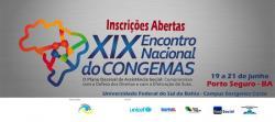 panfleto XIX° Encontro Nacional do Congemas