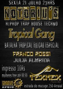 panfleto Notoriu's Tropical Gang