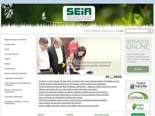 panfleto Portal Seia - Sist. Est. de Infs. Ambientais - BA