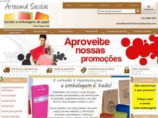 panfleto Artesanal Sacolas