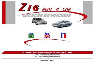 panfleto Zig Rent a Car - Locação de Veículos