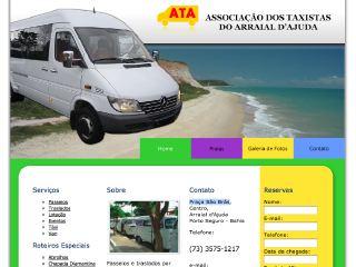 panfleto ATA - Associação dos Taxistas do Arraial d'Ajuda