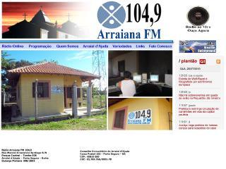 panfleto Rádio Arraiana FM 104,9
