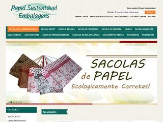 panfleto Papel Sustentável Embalagens