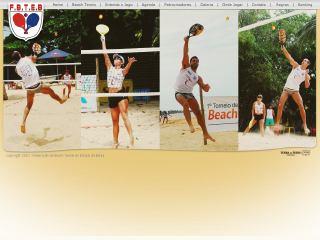 panfleto Federação de Beach Tennis do Estado da Bahia