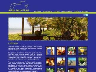 panfleto Verde Água Praia