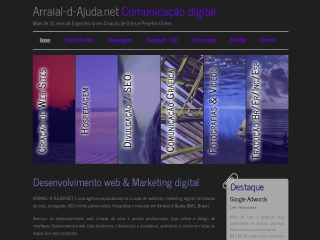 panfleto  Arraial-d-Ajuda.net - Criação e hospedagem de websites