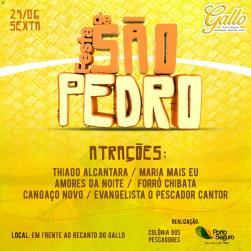 panfleto Festa de São Pedro