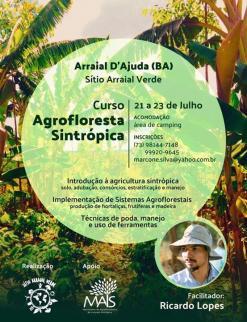 panfleto Curso prático de Sistemas Agroflorestais