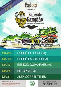 panfleto Bailes do Lampião - Benício Guimarães