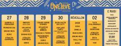 panfleto One Love Festival Caraíva - Reveillon Deixa Levar