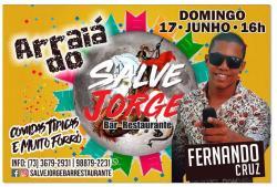 panfleto Arraiá do Salve Jorge - Fernando Cruz