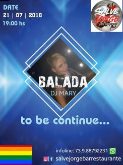 panfleto Balada com Dj Mary