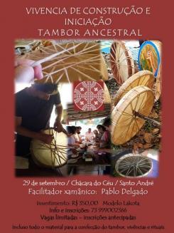 panfleto Construção e Iniciação ao Tambor Ancestral