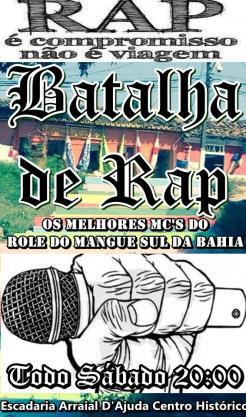 panfleto Batalha de Rap
