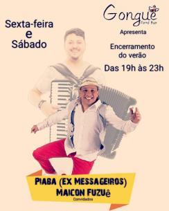 panfleto Forró ao vivo - Piaba, Maicon Fuzuê e convidados