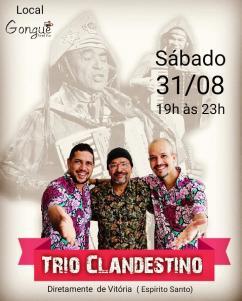 panfleto Forró ao vivo - Trio Clandestino