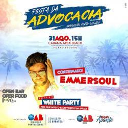 panfleto Festa Advocacia - White Party