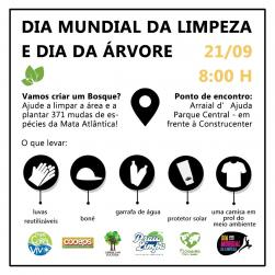 panfleto Dia Mundial da Limpeza + Dia da Árvore