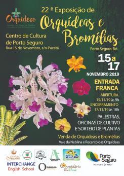 panfleto 22ª Exposição de Orquídeas e Bromélias da Costa do Descobrimento