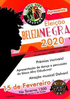 panfleto Eleiçõ Beleza Negra 2020