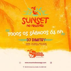 panfleto Sunset com DJ Dimitry