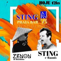 panfleto Sting & Os Raonis - CANCELADO