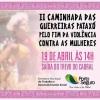 panfleto  Caminhada das Guerreiras Pataxos pelo fim da Violência contra as Mulheres