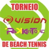 panfleto Torneio Amador Vision/Rakketone Nordeste de Beach Tennis