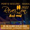 panfleto Réveillon Axé Moi 2022 - Baile da Santinha, Léo Santana + 1 Atração