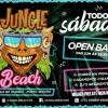panfleto Luau Jungle Beach