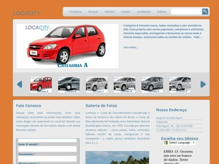 panfleto Locacity Rent a Car