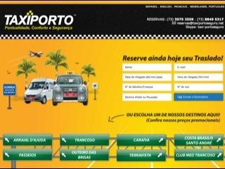 panfleto Taxi Porto Seguro