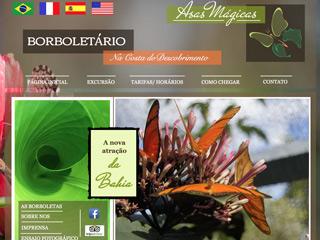 panfleto Asas Mágicas - Borboletário & Parque Ecológico
