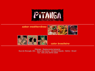 panfleto Pitanga - Restaurante & pizzaria