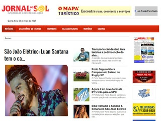 panfleto Jornal do Sol on line
